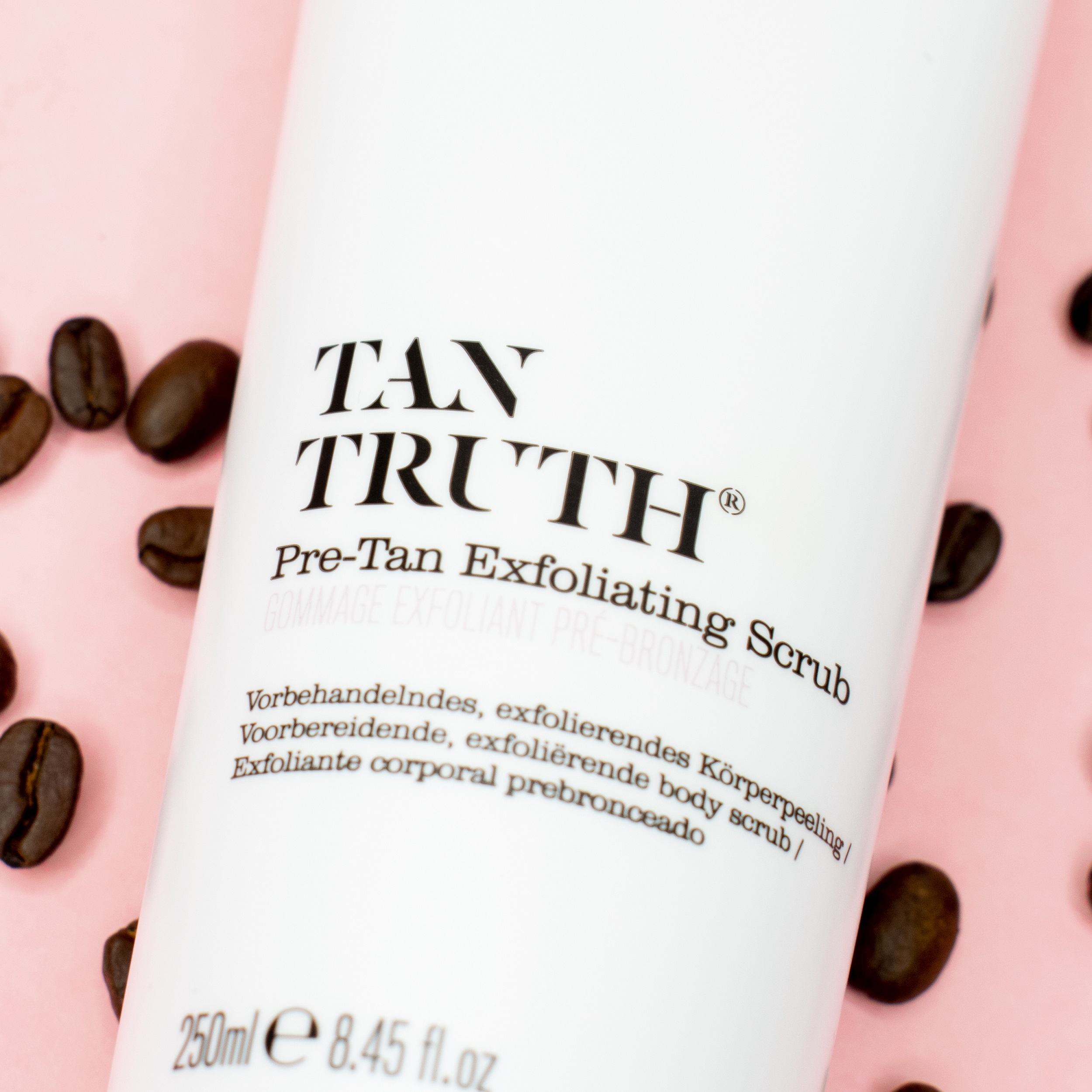 Pre Tan Exfoliating Scrub with coffee beans